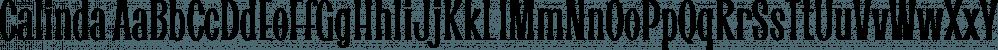 Calinda font family by Eurotypo