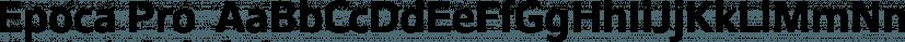 Epoca Pro  font family by Hoftype