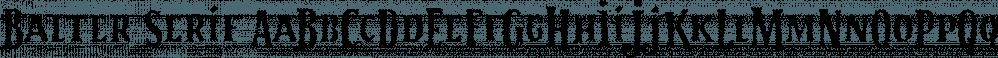 Balter Serif font family by Art Grootfontein