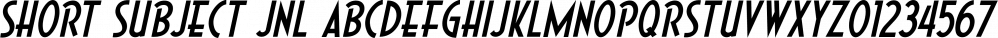 Short Subject JNL font family by Jeff Levine Fonts
