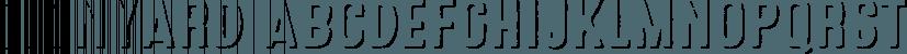Signyard font family by Albatross