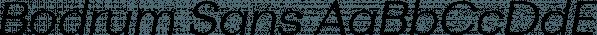 Bodrum Sans font family by Bülent Yüksel