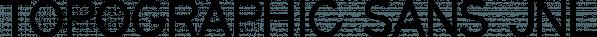 Topographic Sans JNL font family by Jeff Levine Fonts