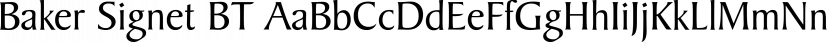 Baker Signet BT font family by ParaType