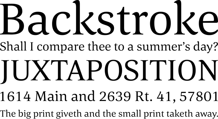 Corda Font Phrases