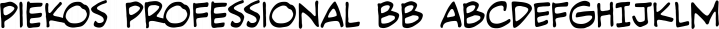 Piekos Professional font family by Blambot