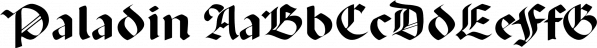 Paladin font family by SoftMaker