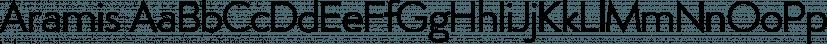 Aramis font family by Wiescher-Design