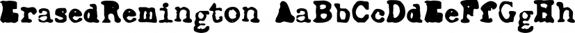 ErasedRemington font family by Intellecta Design