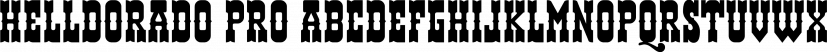 Helldorado Pro font family by CheapProFonts