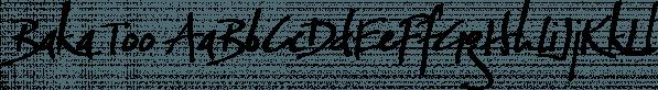 Baka Too font family by Positype