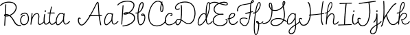 Ronita font family by Typadelic