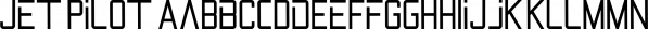 Jet Pilot font family by madeDeduk