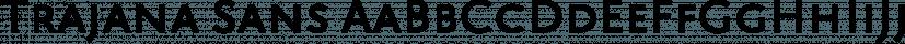 Trajana Sans font family by Tipo Pépel
