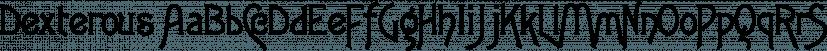 Dexterous font family by Gerald Gallo Fonts
