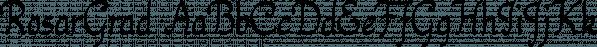 RosarGrad font family by Ingrimayne Type