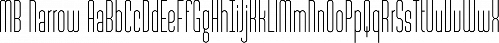MB Narrow font family by Ben Burford Fonts