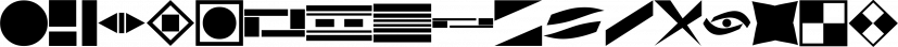 Dingits JNL font family by Jeff Levine Fonts