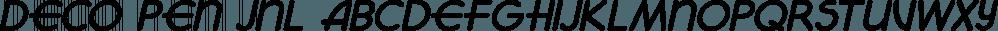 Deco Pen JNL font family by Jeff Levine Fonts