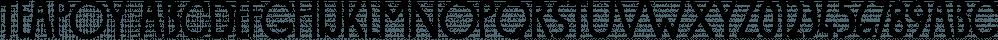 Teapoy font family by Bogstav