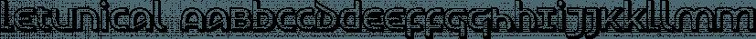 Letunical font family by Ingrimayne Type