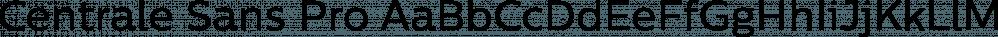 Centrale Sans Pro font family by Typedepot