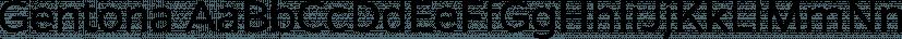 Gentona font family by René Bieder