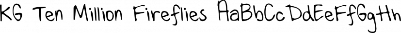 KG Ten Million Fireflies font family by Kimberly Geswein Fonts