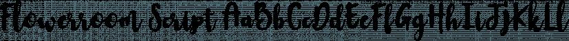Flowerroom Script font family by Area Type Studio