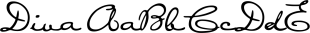 Diva Alt font family mini