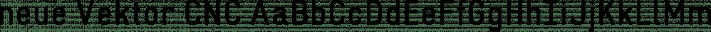 neue Vektor CNC font family by Neue