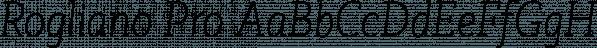 Rogliano Pro font family by Untype