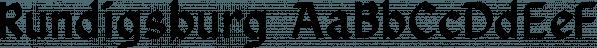 Rundigsburg font family by Ingrimayne Type