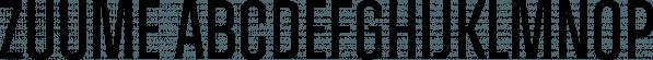 Zuume font family by Adam Ladd