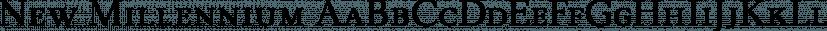 New Millennium font family by Three Islands Press