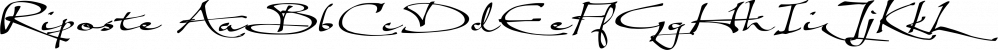 Riposte font family by Scholtz Fonts