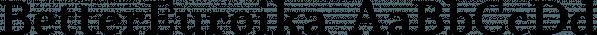 BetterEuroika font family by Ingrimayne Type
