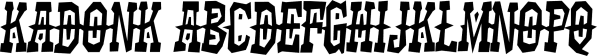 Kadonk font family by Typodermic Fonts Inc.