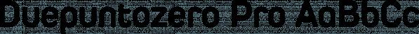 Duepuntozero Pro font family by Zetafonts