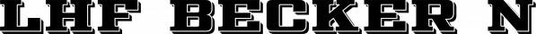 LHF Becker No.45 font family by Letterhead Fonts