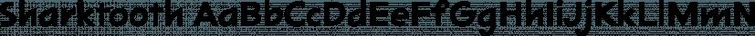 Sharktooth font family by Mark Simonson Studio
