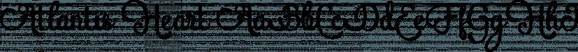 Atlantis Heart font family by feydesign