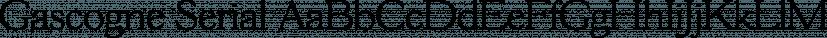 Gascogne Serial font family by SoftMaker