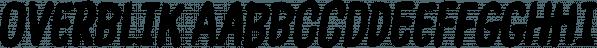 Overblik font family by Bogstav