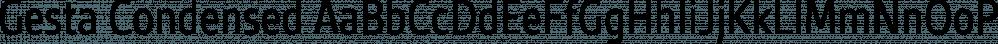 Gesta Condensed font family by Rui Abreu