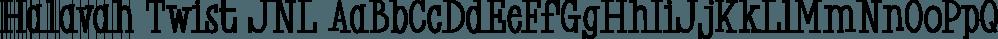 Halavah Twist JNL font family by Jeff Levine Fonts