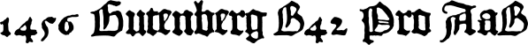 1456 Gutenberg B42 Pro font family by GLC Foundry