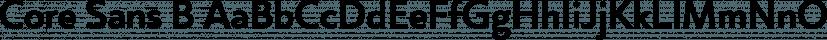 Core Sans B font family by S-Core