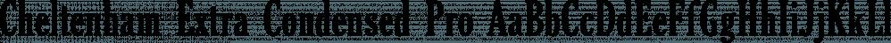 Cheltenham Extra Condensed Pro font family by SoftMaker