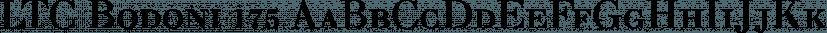 LTC Bodoni 175 font family by P22 Type Foundry